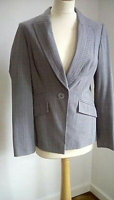 Principles Grey & White Striped Trouser Suit size 10