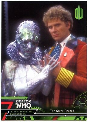 Sixth Doctor #6 Dr. Who Extraterrestrial Encounters 2016 Topps Trade Card C2008