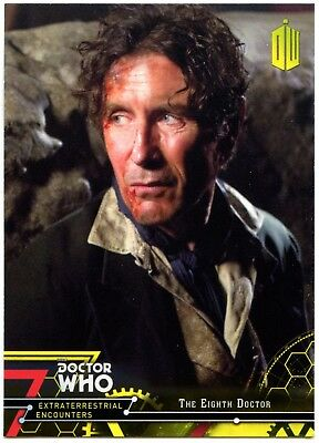 8th Doctor #8 Dr Who Extraterrestrial Encounters 2016 Yellow Parallel Card C2009