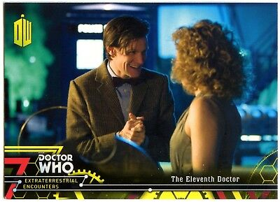11th Doctor#12 Dr Who Extraterrestrial Encounter 2016 Yellow Parallel Card C2009