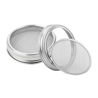 Stainless Steel Strainer Sprouting Lid For Mason Canning Jars Wide Mouth