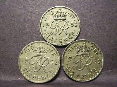 Great Britain, Sixpence 1952 (3)