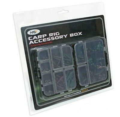 JOB LOT 5 x  NEW NGT CARP RIG ACCESSORY  FISHING BOX KIT 100 PIECE