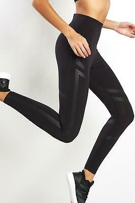 2770a999 REEBOK SIZE M Linear High Rise Tights Black $85