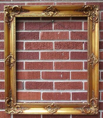 Vintage MID-CENTURY FRENCH Style GOLD Wood Picture FRAME 20 x 24 in fit c1960s
