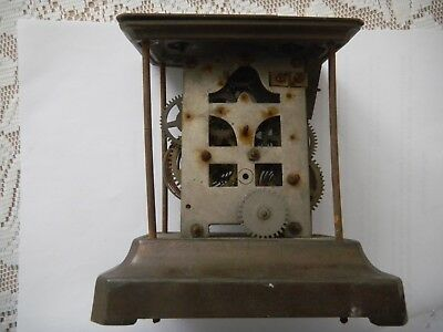 Old carriage clock frame and movement