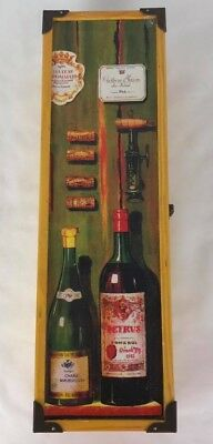 Vintage Wine gift box wood Hinged with Clasp
