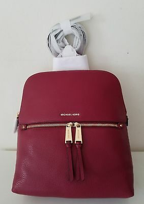 1938d0bb5533e4 NWT MICHAEL MICHAEL KORS Rhea Medium Slim Leather Backpack MULBERRY ...