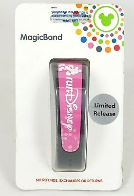 New Disney Parks Limited Release Run Disney Pink Magic Band 2.0