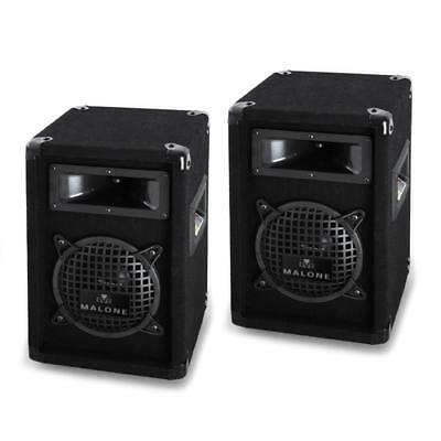 """Compact 3-Way Passive Speakers 6.5"""" Bass Pa 500W Pair *free P&p Special Offer"""