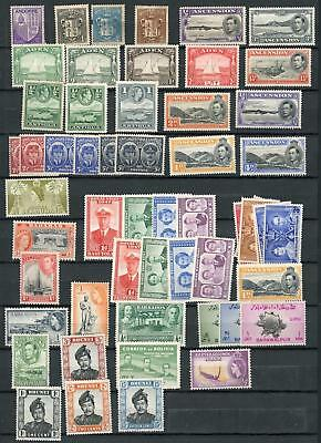 British Commonwealth & World Collection on 13 Stock Pages MNH, MH & Used