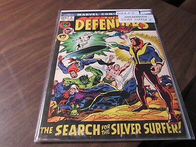 The Defenders #2 the Search for the Silver Surfer 2nd Issue Bronze Age Comic