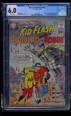 Brave and the Bold #54 CGC 6.0 Origin and 1st Appearance Teen Titans