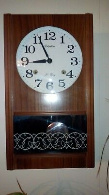 Vintage Japanese Made 30 Day Wall Clock By Rhythm