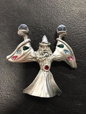 SPOONTIQUES PEWTER WIZARD Figurine Vintage Collectible