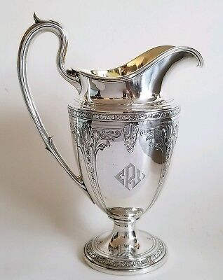 Fine Antique Gorham Sterling Silver Water Pitcher