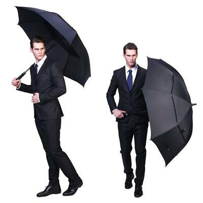 """62"""" Automatic Open Golf Umbrella UV Protection Oversize Double Canopy Windproof"""