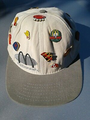 Vintage McDonald's hat with 15 pins
