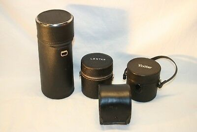 Lot of 4 Misc. Hard Camera Lens Protective Cases............(L16)