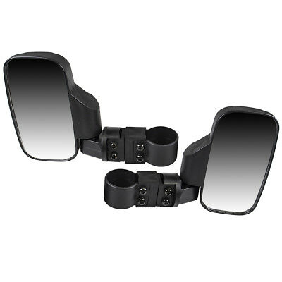 Black Side View Mirror Set 09-2019 Honda Big Red 700 Pioneer 500 1000 Wide View