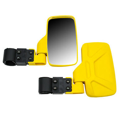 Yellow Side View Mirror Set UTV Offroad High Impact Break-Away Large Wide View