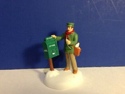 Dept 56 New England Village COLLECTING THE MAIL w/ box Combine Shipping!