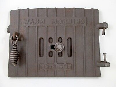 Vintage Warm Morning Model 617 A Locke Stove Co Cast Iron Door Part 651a