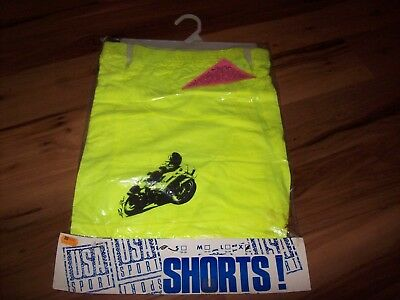 vtg NOS Neon 80's deadstock USA SPORT WEAR Shorts Sz XL-NEW!