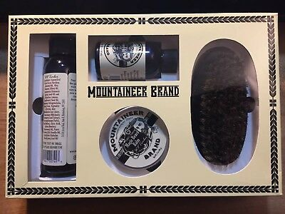 Beard Grooming Kit Mountaineer Brand All-Natural Timber Oil Balm Wash Brush Care