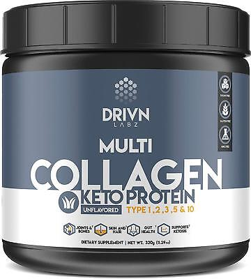 Keto Protein Powder & MCT Oil Multi Hydrolyzed Collagen Peptides Marine Collagen