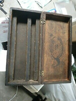 Vintage Antique Primitive Wooden Case Tool Box Great Patina Brass Hardware