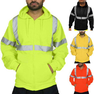 Hight Quatily Mens Road Work High Visibility Pullover Hooded Sweatshirt Tops