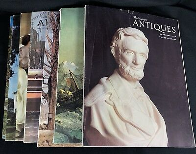 Lot of 7 The Magazine ANTIQUES 1974 1975 1977 1978 1979 History Collectible