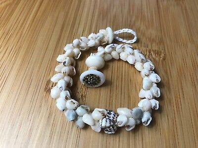 7 1/2 inches long Momi shell bracelet from Hawaii