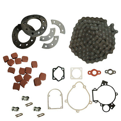 415 Chain&Sprocket Mount Kit&Square Clutch Pads For 49/66/80cc Motorised Bike