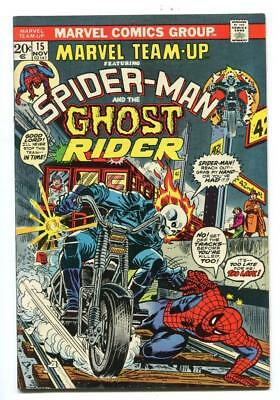 Marvel Team-Up #15 - 1St Meeting Ghost Rider & Spidey - 1St App The Orb - 1973