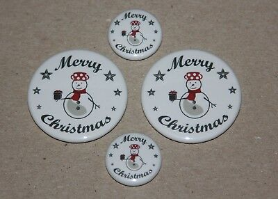 4 Merry Christmas Style 2  Magnets-Makes Great Gifts
