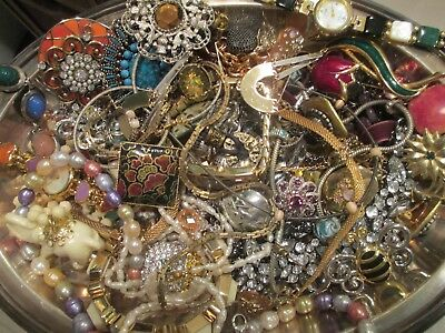 Vintage to Now JUNK DRAWER Jewelry Lot Watches Estate Find UNSEARCHED UNTESTED