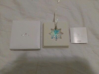 SWAROVSKI for Macy's Iridescent Clear Crystal Star 2017 Christmas Ornament NIB