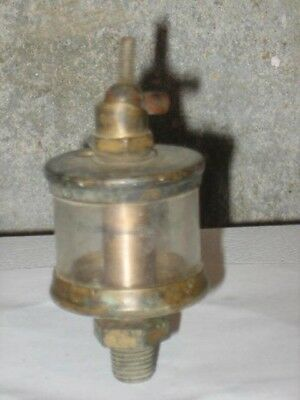 Original Brass Michigan Lubricator Co. Hit & Miss Engine Oiler