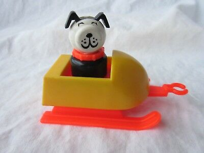 Vintage Fisher Price #705  Snow Mobile Sled with Lucky the Dog