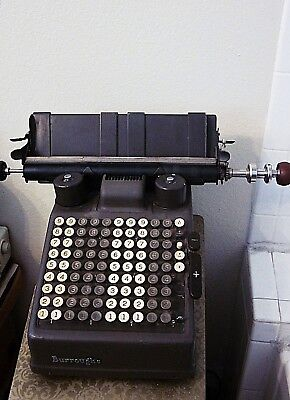 Antique Burroughs Electric Adding Machine Direct Alternating AM-36