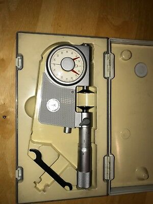 Micrometer 0 - 20 mm with an integral dial gauge,in original box, good condition
