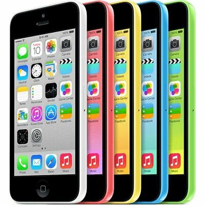 Apple iPhone 5C 16GB 32GB White Blue Pink Unlocked Mobile Phone Smartphone Gifts