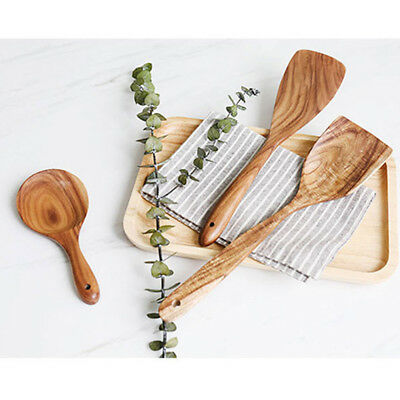 1 Piece Set Kitchen Utensils Wooden Kitchenware Nonstick Pan Cookware 6A