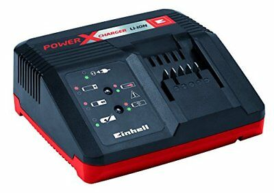 Einhell 4512011 Power X-Change Caricabatterie Rapido, 18 V, Nero/Rosso (XJY)
