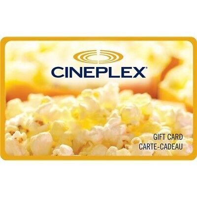 buy $13.01, Cineplex Gift card-Via email delivery Or Letter Mail.