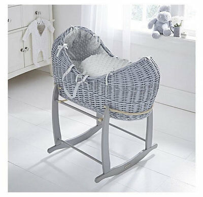 Brand new Clair de lune grey noah pod in grey dimple with grey rocking stand