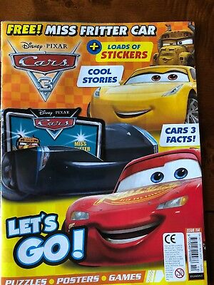 Cars Magazine Disney Issue 114 With Free Stickers