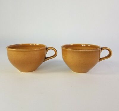 2 Vtg Russel Wright Iroquois Casual China Apricot Mid Century Coffee Tea Cup